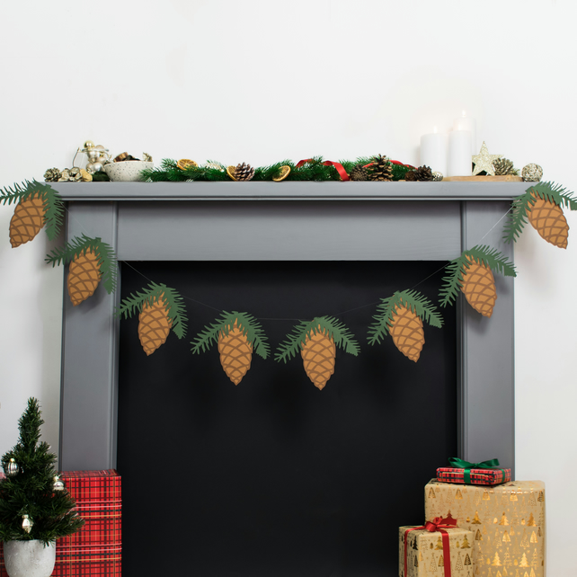 Pinecone Christmas Garland