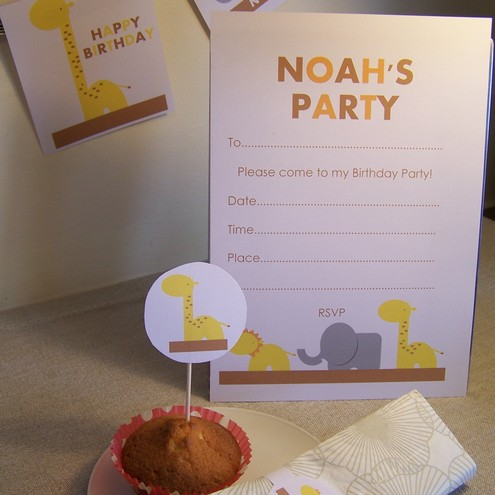 Personalised Safari Party Pack