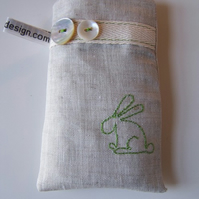 Rabbit Embroidered mobile phone case