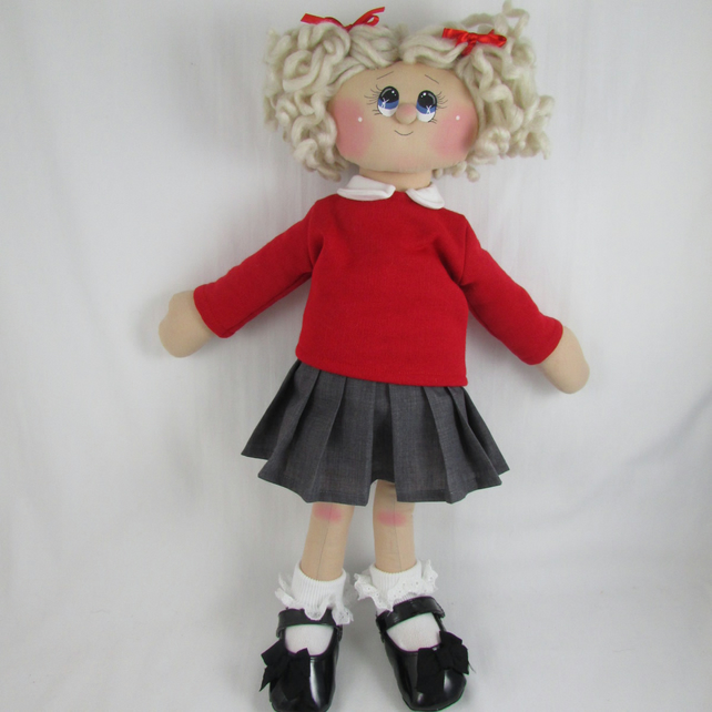 Rag Doll - Susie Schoolgirl CUSTOM MADE