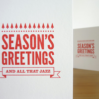 Season's Greetings And All That Jazz – Screen Printed Christmas Card