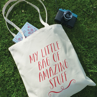 My Little Bag of Amazing Stuff – Cotton Tote Bag