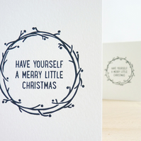 Merry Little Christmas – Letterpress Christmas Card