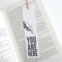 You Are Here – Letterpress Bookmark