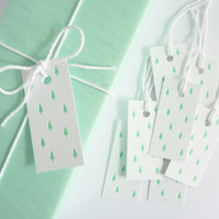 Green Trees – Letterpress Gift Tags
