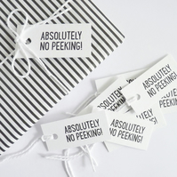 No Peeking – Letterpress Gift Tags