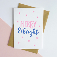 Merry and Bright – Letterpress Christmas Card