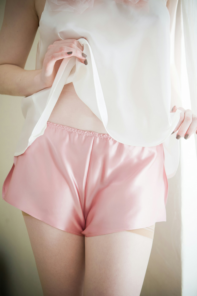 Mistress French Knickers - handmade silk, Valentine