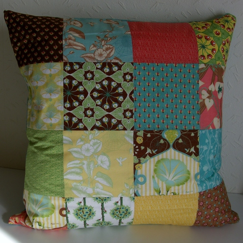 Botany Patchwork Cushion