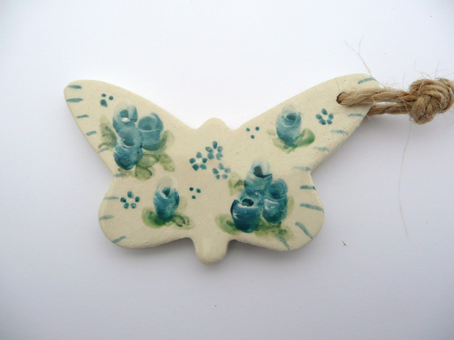 ceramic butterfly gift tag