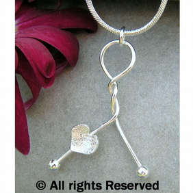 FREE DELIVERY Handmade Silver Heart Twist Necklace Gift Wrapped Pendant JTAP4