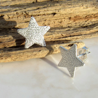 UK FREE DELIVERY Sterling Silver Stars Stud Earrings - Handmade Gift Ideas BCE1