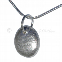 FREE DELIVERY UK Handmade Pebble Necklace Recycled 925 Silver Gift Ideas GCP10