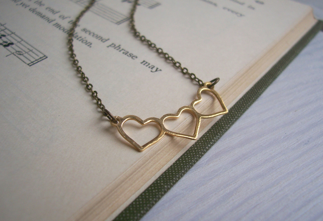 Gold Sweetheart necklace - dainty charm - SALE - nickel free