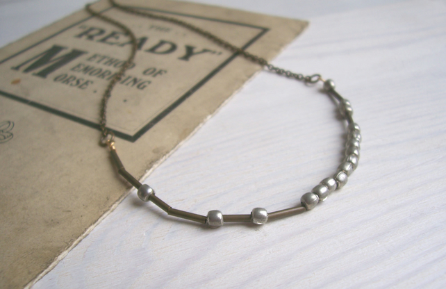 Manchester morse code necklace - choose your city - mixed metals - customisable