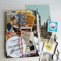 Paper Ephemera Collage Pack - 100 items - gift for crafters