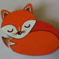 Large Sleeping Red Fox Brooch.