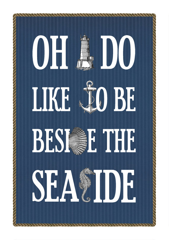 Vintage Nautical Seaside Print
