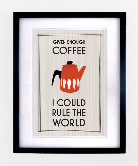 Mid Century Retro Coffee Print