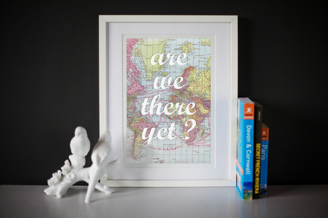 World Map Travel Inspirational Print