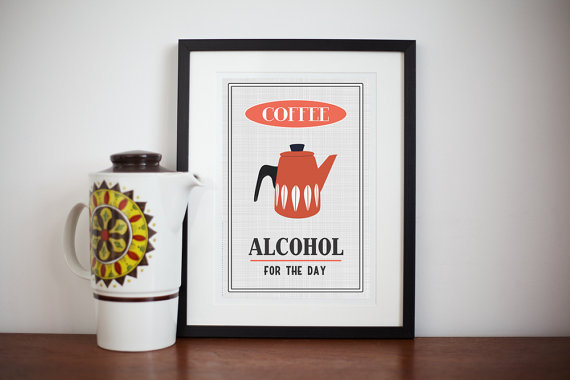 Retro Cathrineholm Coffee Poster Print
