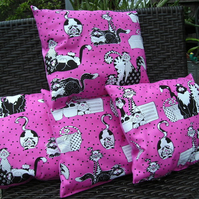 Pink Cat Cushion