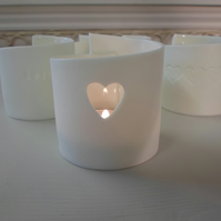 porcelain tealight holder-heart-ceramics