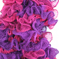 Purple and red can can scarf
