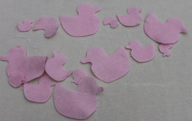 Pink Duck  Bunting price per string