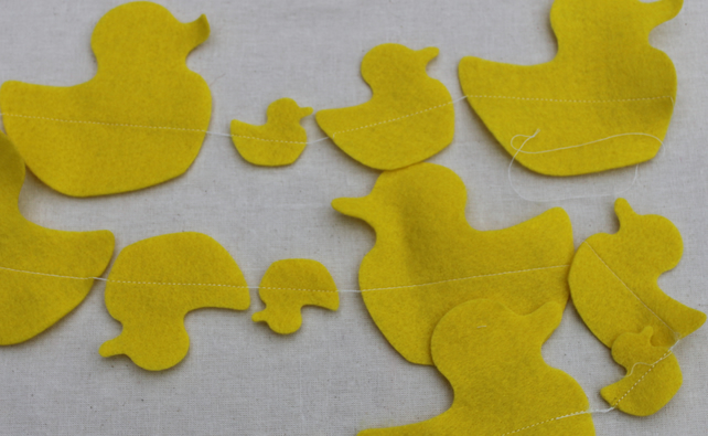 Yellow Duck  Bunting price per string