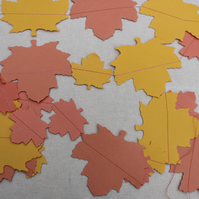 Orange and yellow paper leaves Bunting