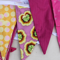 Bright Pink and yellow bunting