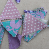 Mini Bunting purple floral