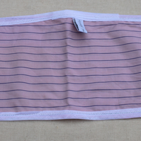 Pink and blue striped toy mini oven gloves