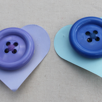 Purple and Blue  Button Hair Clip