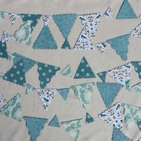 Paper bunting green and blue