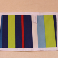 Blue , red and green striped  kids mini toy oven gloves