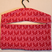 Patterned pink  peg bag