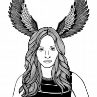 Jennifer Lawrence: Spirit of the Mockingjay --- Original Artwork