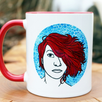 Bigger On The Inside --- Amanda Palmer Inspired --- ArtADay Printed Mug