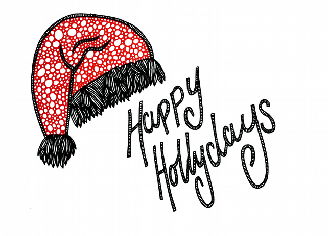SALE!! Happy Hollydays --- Original Artwork