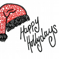 Happy Hollydays --- Original Artwork