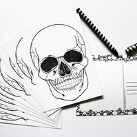 Printed Postcard --- In A Year - Skull