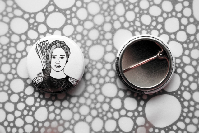 Badge Pin --- Katniss