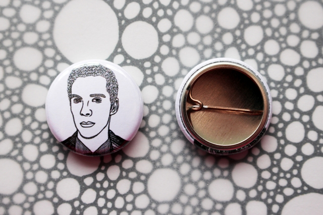 Badge Pin --- Benedict Cumberbatch: The Gentleman Tree Nymph