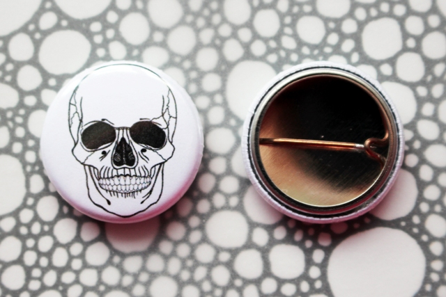 Badge Pin --- In A Year: Skull
