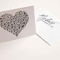 Printed Greeting Card --- I Love You From My Vagina