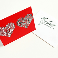 Printed Greeting Card --- I Love You From My Genitals --- Red