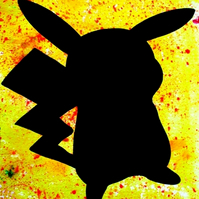 Pikachu Silhouette --- Original Artwork