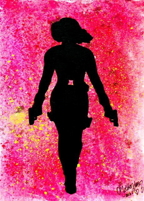 Black Widow Silhouette --- Original Artwork